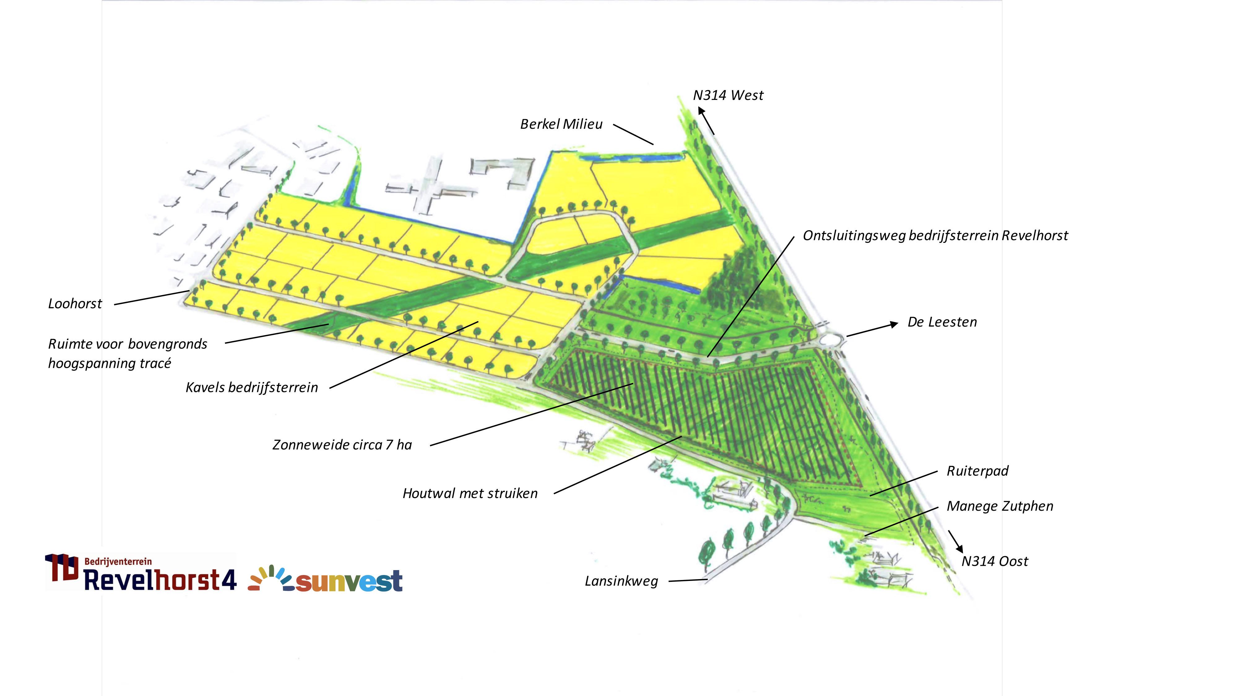 Revelhorst planontwerp zonneweide
