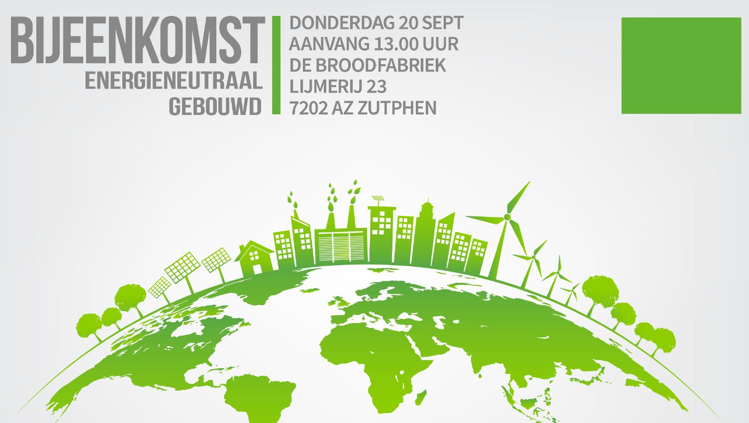 20 september: Bijeenkomst Energieneutraal Gebouwd