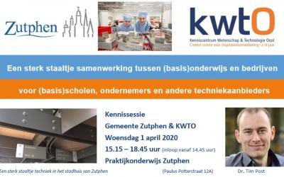 1 april: Kennissessie samenwerking ondernemers en onderwijs